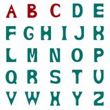 Lettere colorate dell'alfabeto latino, isolate sul backgro bianco illustrazione di stock