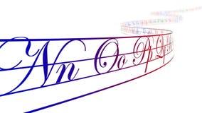Lettere colorate di alfabeto su nastro curvo, ciclo royalty illustrazione gratis