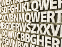 Lettere concrete Immagini Stock Libere da Diritti