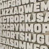 Lettere concrete Immagine Stock