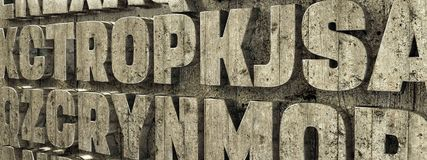 Lettere concrete sul muro di cemento royalty illustrazione gratis