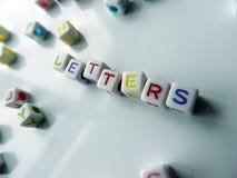 Lettere - cubi colorati che periodo & x22; letters& x22; Immagine Stock Libera da Diritti