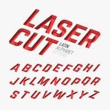 Lettere cutted laser royalty illustrazione gratis