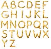 Lettere da soia Immagine Stock