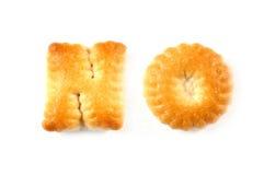 Lettere dei biscotti. NO. di parole Fotografie Stock Libere da Diritti