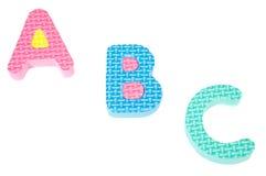 Lettere dei colori dell'alfabeto immagini stock
