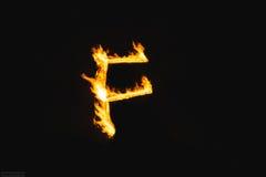 Lettere del fuoco fotografia stock libera da diritti