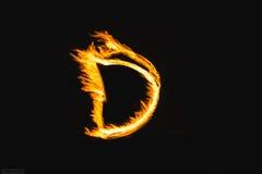 Lettere del fuoco fotografia stock