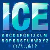 Lettere del ghiaccio Fotografia Stock Libera da Diritti