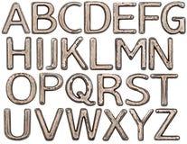 Lettere del metallo Immagini Stock