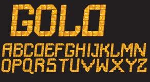 Lettere del mosaico dell'oro Fotografie Stock Libere da Diritti