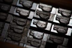 Lettere del torchio tipografico del metallo Immagini Stock Libere da Diritti
