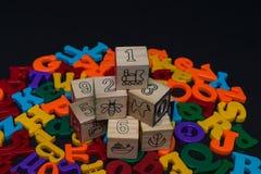 Lettere dell'alfabeto del giocattolo Fotografia Stock Libera da Diritti