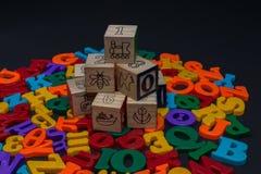 Lettere dell'alfabeto del giocattolo Fotografia Stock