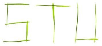 Lettere dell'erba Fotografie Stock Libere da Diritti