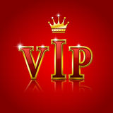 Lettere dell'oro di VIP. Immagini Stock Libere da Diritti
