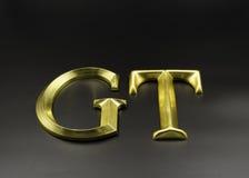 Lettere della foglia di oro 3D Fotografia Stock