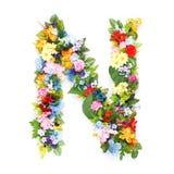Lettere delle foglie e dei fiori Immagini Stock Libere da Diritti