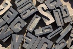 Lettere delle stampanti Fotografie Stock