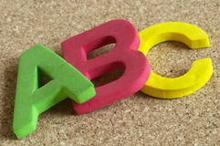Lettere di ABC Fotografia Stock