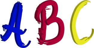 Lettere di ABC Immagine Stock