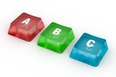 Lettere di ABC dal puzzle Fotografia Stock Libera da Diritti