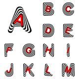Lettere di ABC di progettazione da A alla m. Immagini Stock