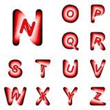 Lettere di ABC di progettazione da N alla Z Fotografie Stock Libere da Diritti