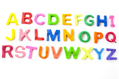 Lettere di alfabeto Fotografia Stock