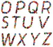 Lettere di alfabeto fotografie stock