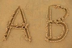 Lettere di alfabeto Immagini Stock