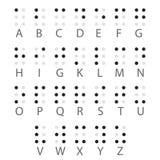 Lettere di alfabeto di Braille inglese Vettore Fotografia Stock Libera da Diritti