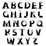 Lettere di alfabeto di orrore di Halloween Fotografia Stock