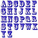Lettere di alfabeto di vettore Immagine Stock Libera da Diritti