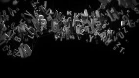 lettere di alfabeto 4K archivi video