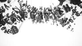 lettere di alfabeto 4K stock footage