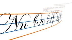 Lettere di alfabeto su nastro curvo, ciclo royalty illustrazione gratis