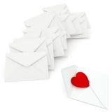 Lettere di amore illustrazione vettoriale