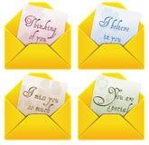Lettere di amore Immagini Stock Libere da Diritti