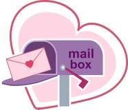 Lettere di amore Fotografie Stock