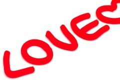Lettere di amore della plastilina Immagini Stock Libere da Diritti