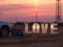 Lettere di amore fatte Immagini Stock