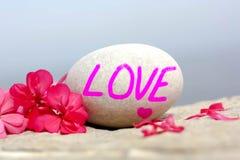 Lettere di amore rosa Fotografie Stock