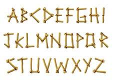 Lettere di bambù Fotografia Stock Libera da Diritti