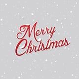 Lettere di Buon Natale coperte di neve Immagine Stock