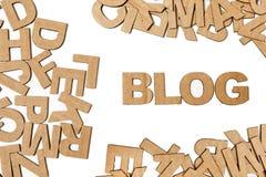 Lettere di carta che formano il blog di parola fotografia stock libera da diritti
