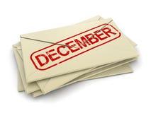 Lettere di dicembre (percorso di ritaglio incluso) Fotografie Stock Libere da Diritti