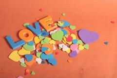Lettere di divertimento di amore Fotografia Stock Libera da Diritti