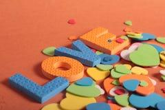 Lettere di divertimento di amore Immagine Stock