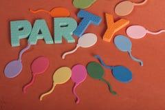 Lettere di divertimento del partito Fotografie Stock
